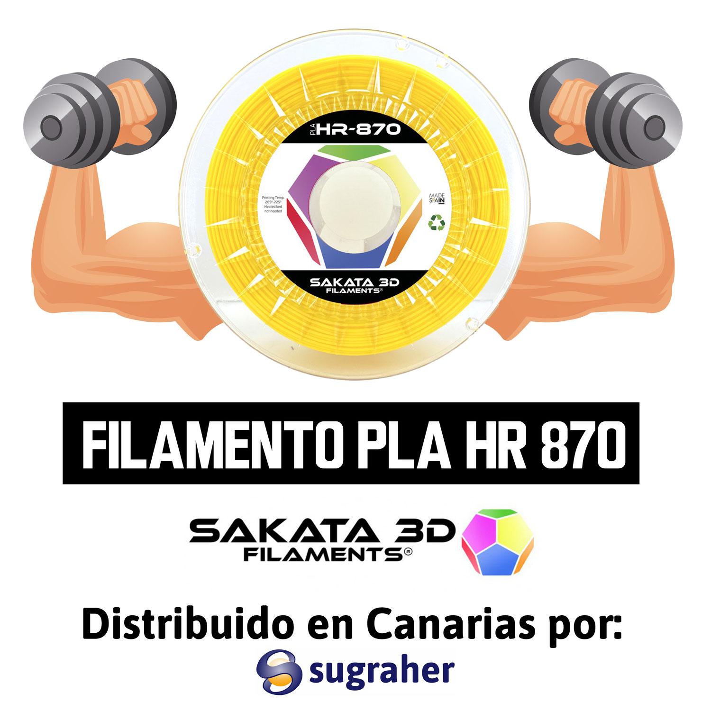 PLA 870 el filamento Premium de Alta Resistencia