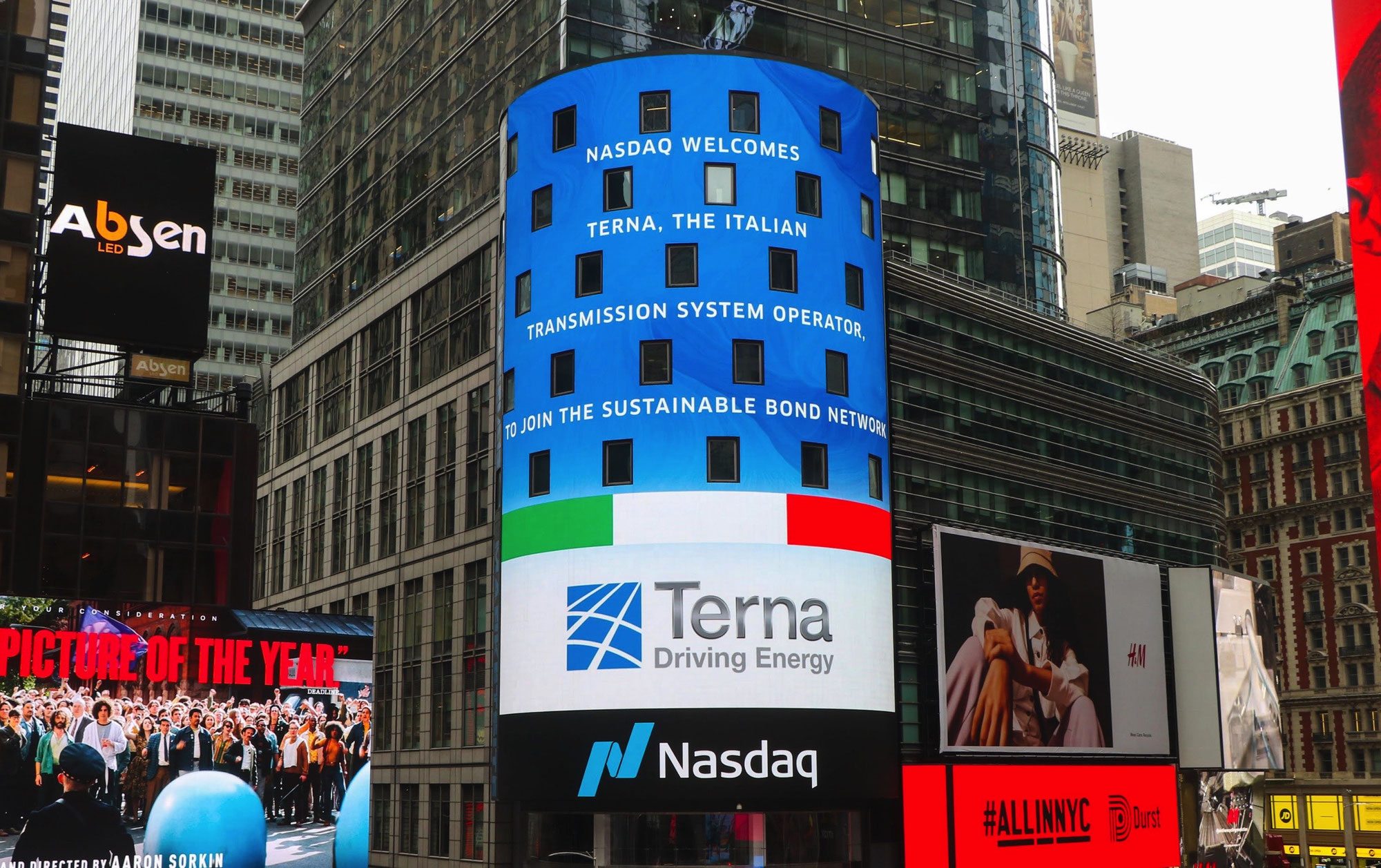 TERNA PRIMA ELECTRIC UTILITY ITALIANA AD ADERIRE AL NASDAQ SUSTAINABLE BOND NETWORK