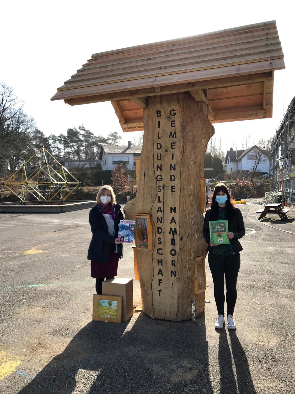 Bücherbaum an der Grundschule Namborn
