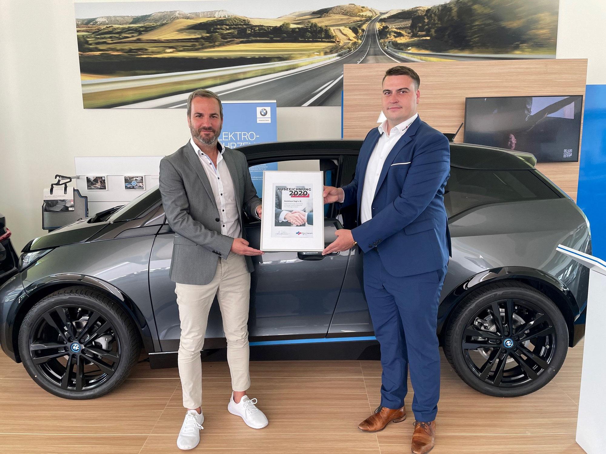 Wir wurden erneut ausgezeichnet: Real Garant 2020 für Autohaus Vogl e.K.