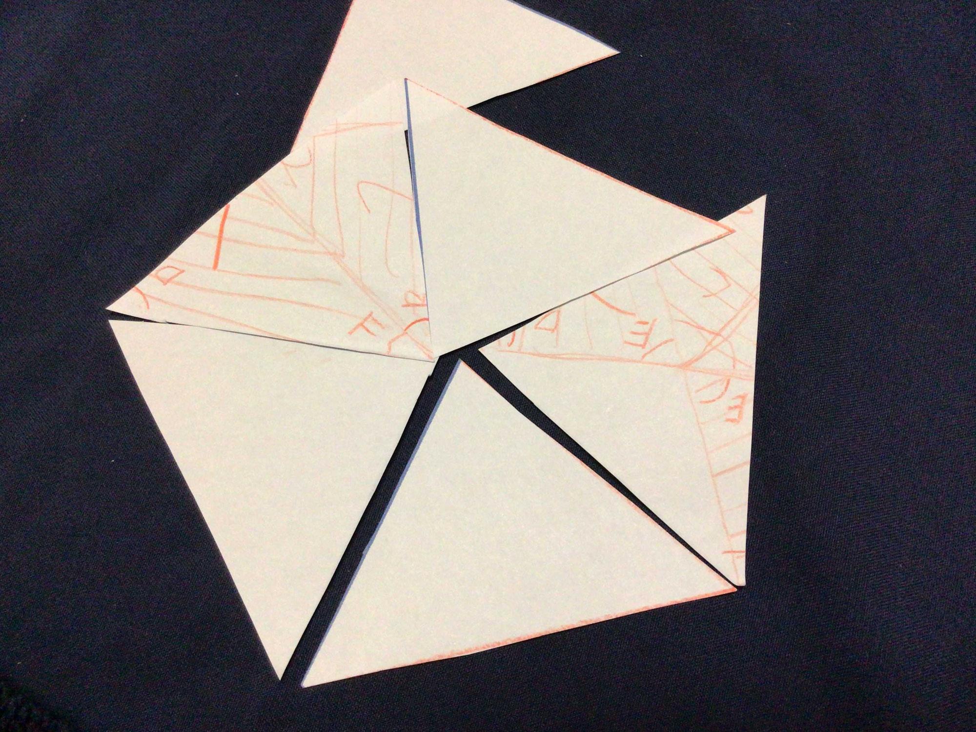 黄金三角形のパズル(中学生)