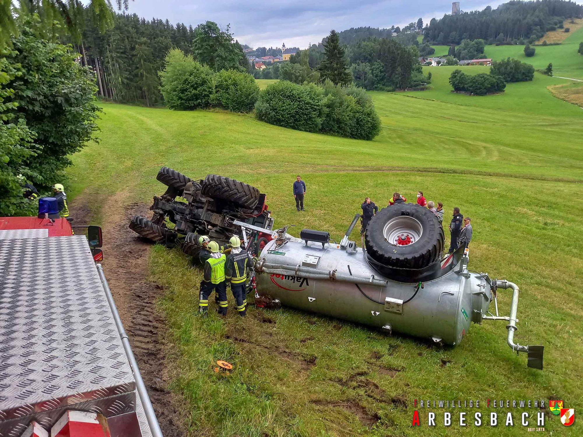 Schwierige Traktorbergung - Arbesbach | 28.07.2021