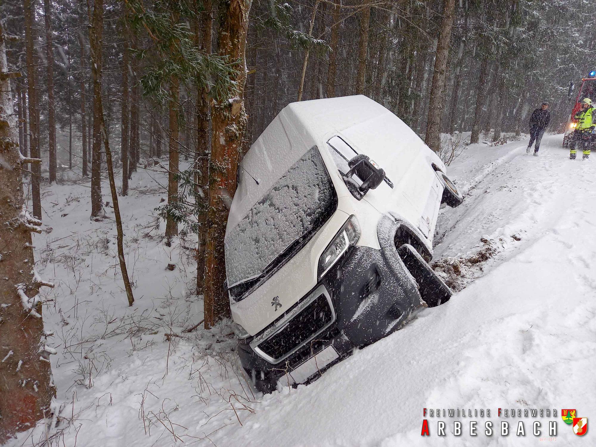 Winterliche Fahrzeugbergung - Schwarzau | 18.03.2021
