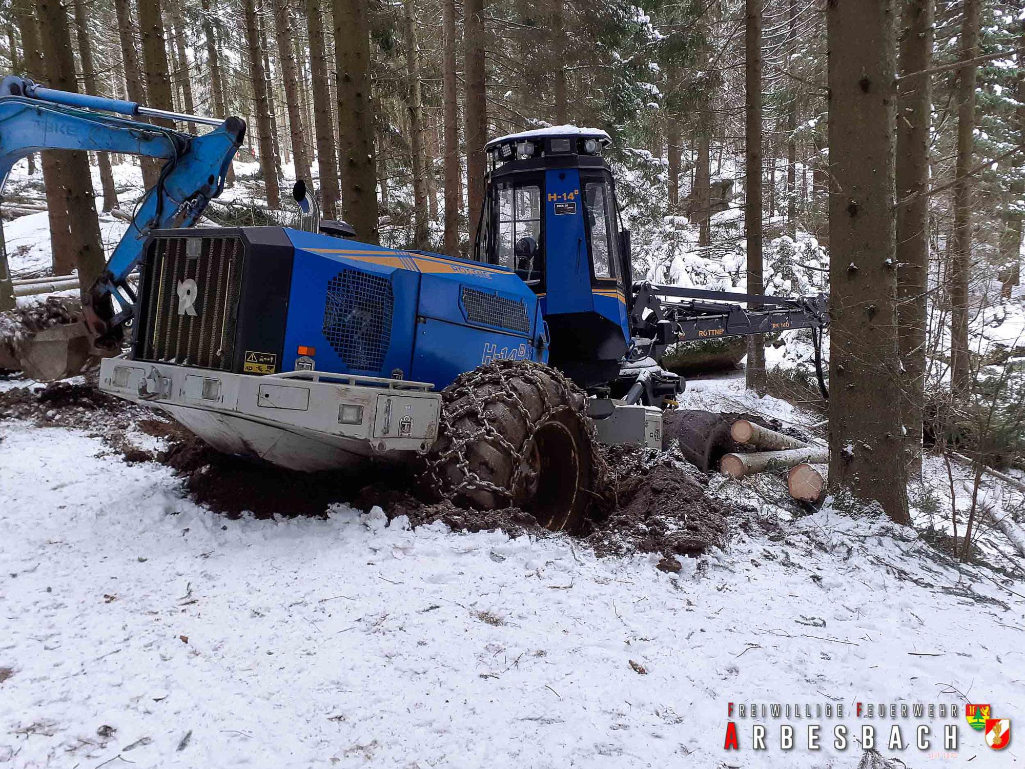 Bergung Forstmaschine - Brunn | 18.01.2021