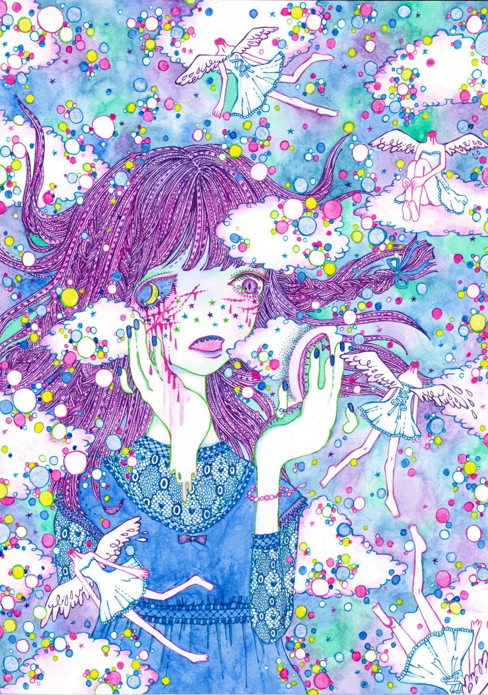 【美術解説】魚子「自傷癖のある少女を描く妄想絵師」