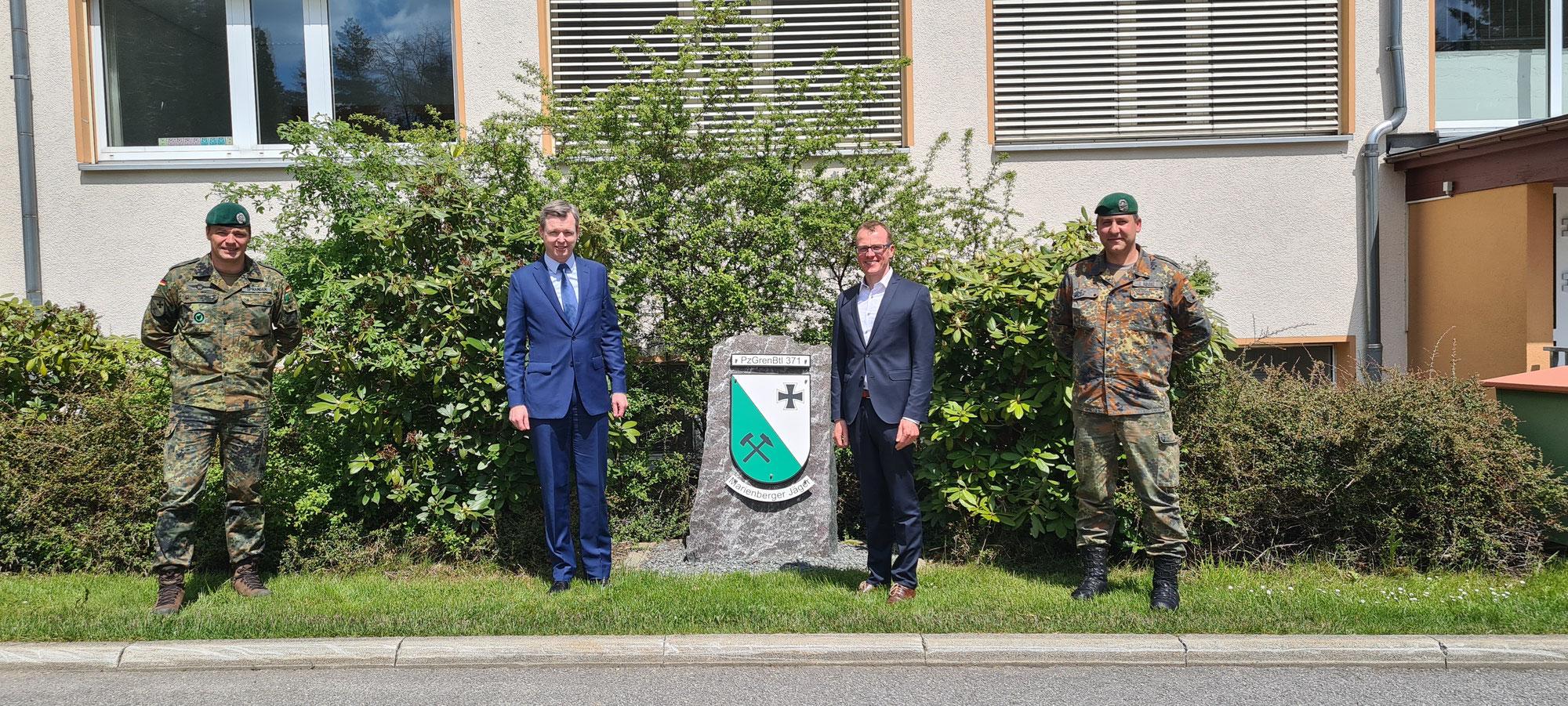 Besuch beim beim Panzergrenadierbataillon 371 in Marienberg