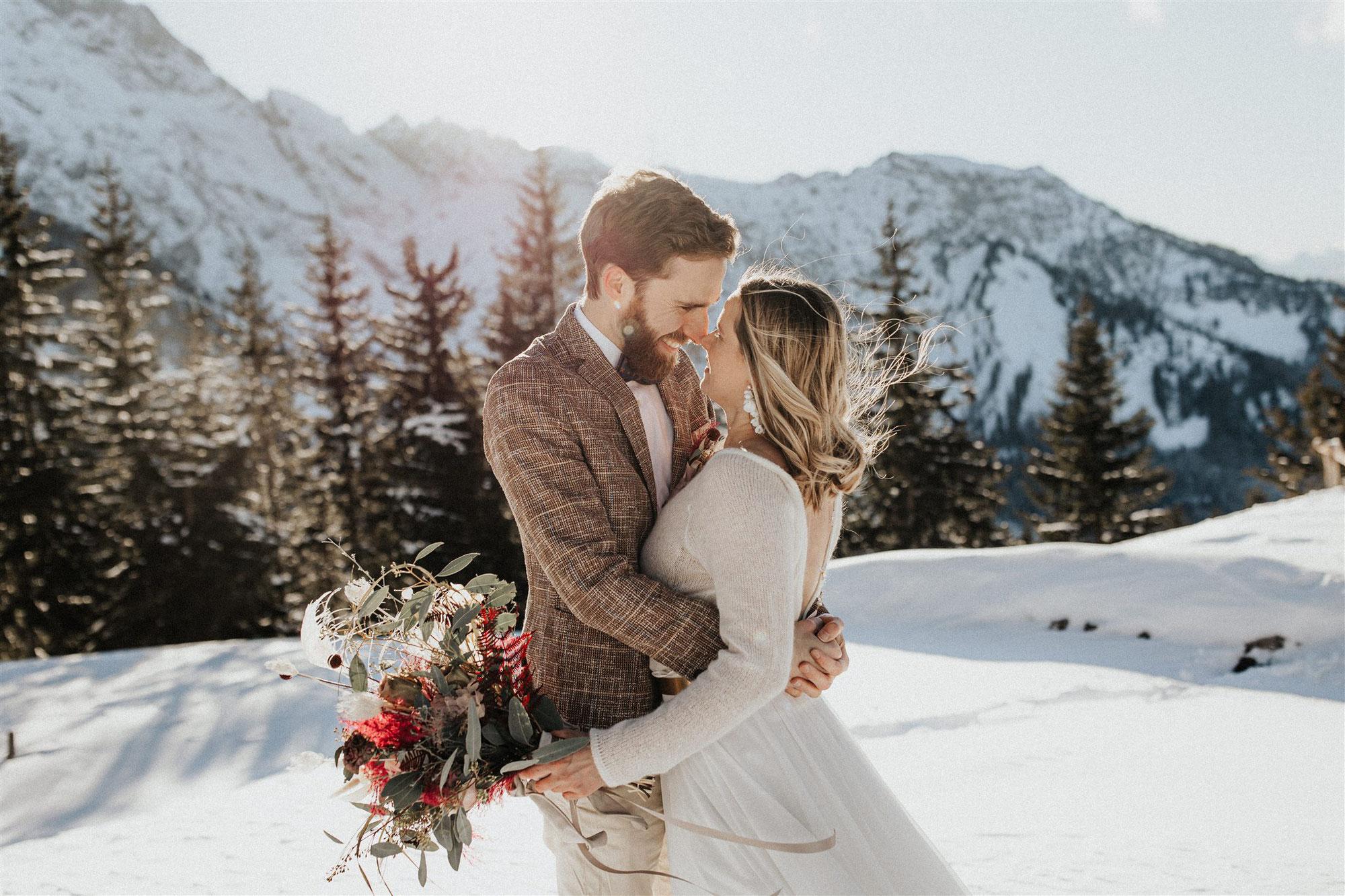Elopment Hochzeit im Winter