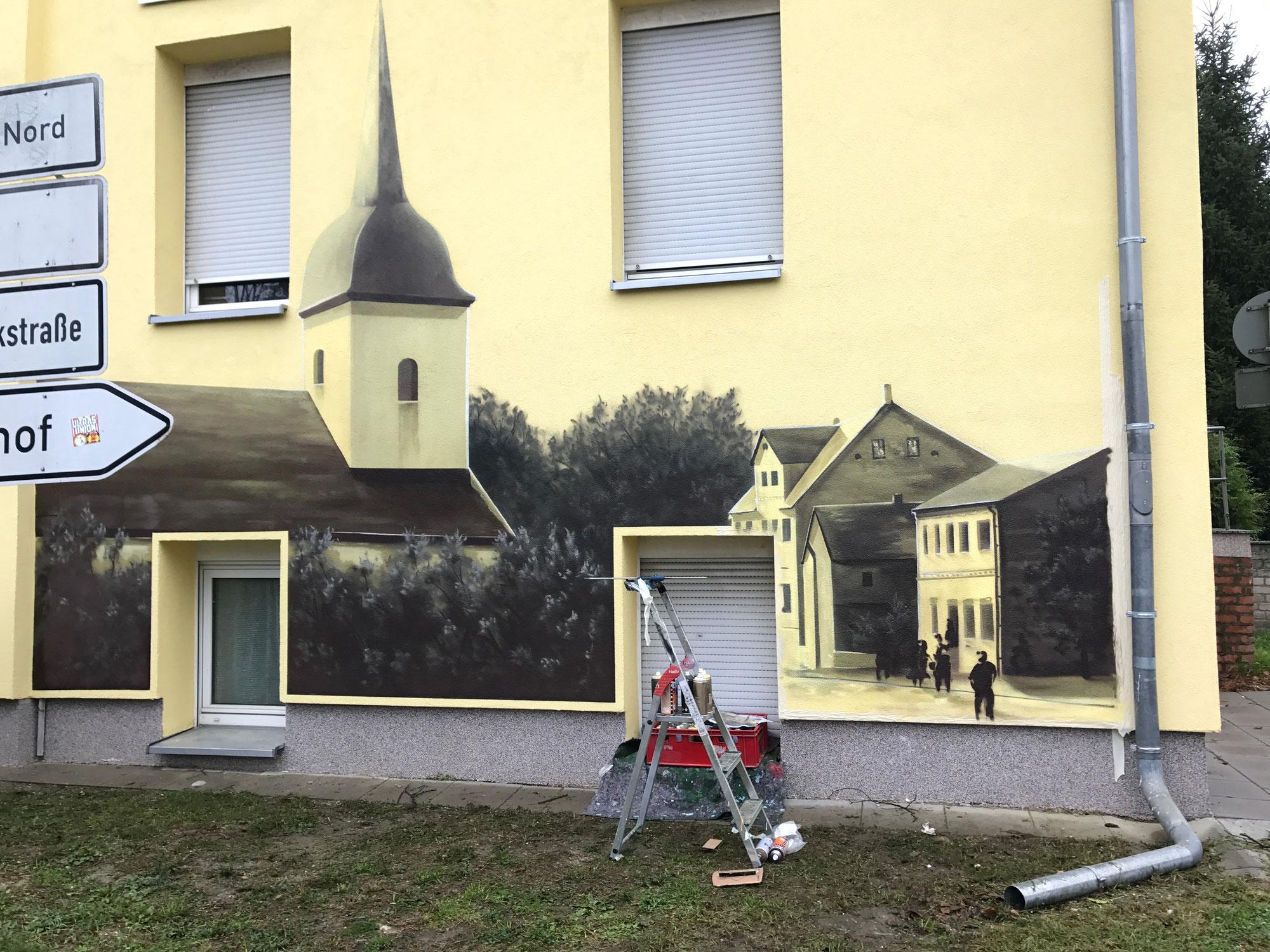 graffiti malerei graffiti k nstler fassade. Black Bedroom Furniture Sets. Home Design Ideas