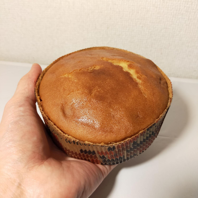 今日のおやつです「安納芋ケーキ」