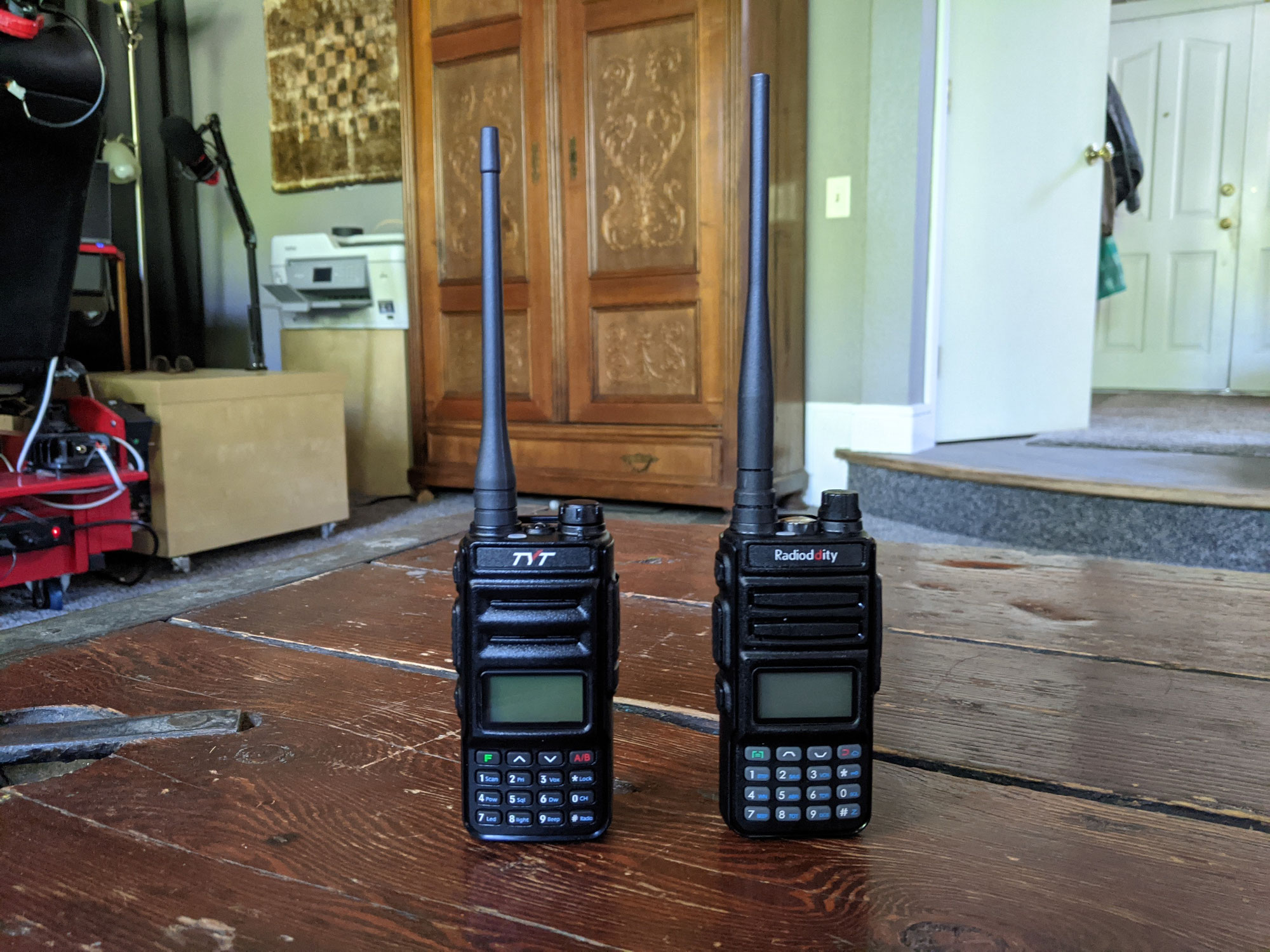 Handy Duo for ham and GMRS lovers.