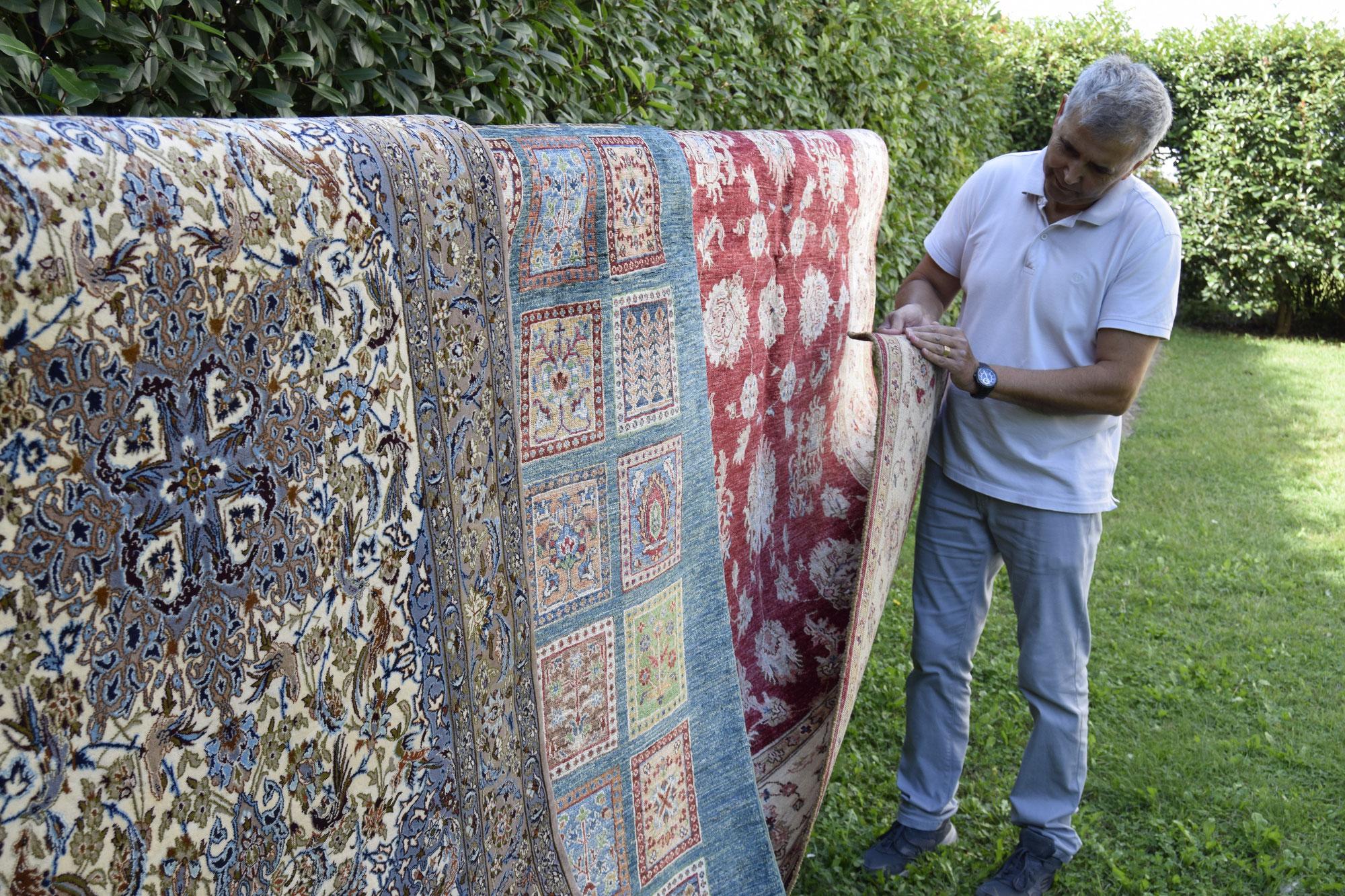 Come posso capire un tappeto fatto a mano o meccanico, industriale, tappeti Tabriz carpet Udine