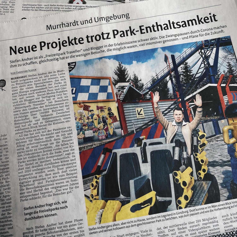 Im Interview - Neue Projekte trotz Park-Enthaltsamkeit