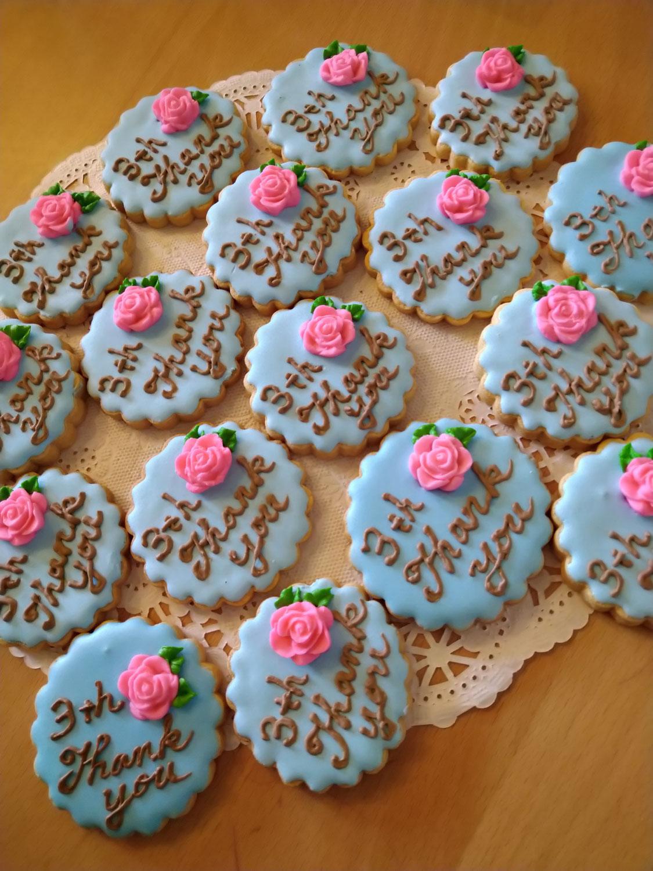 3周年記念のクッキー