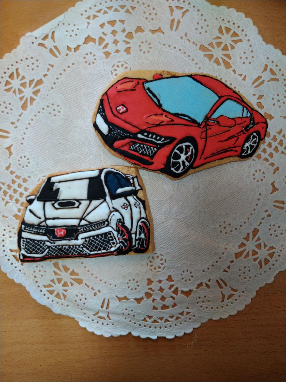 車のアイシングクッキー