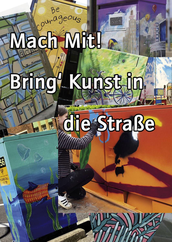 Macht mit: Bringt Kunst in die Straße!