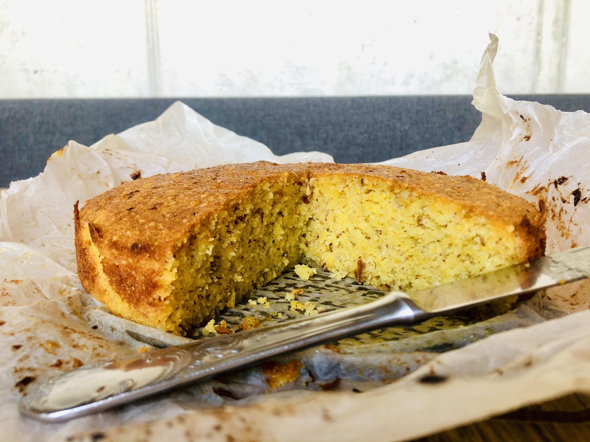 Zitronen-Mandel-Kuchen ohne Gluten