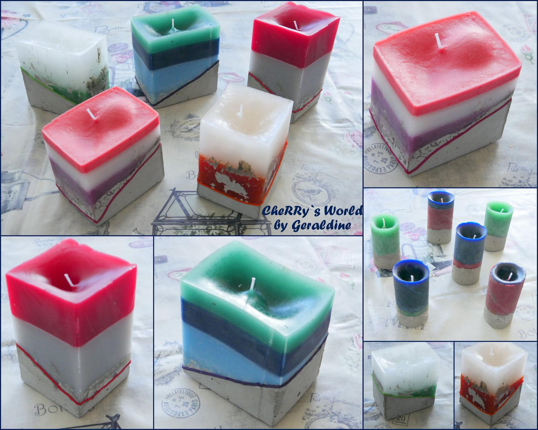 Beton/Wachs Kerzen