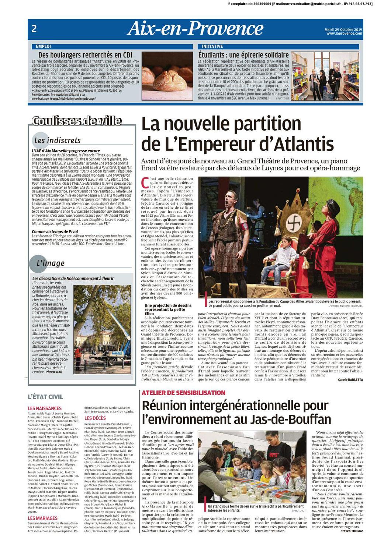 L'EMPEREUR 2020 c'est parti ! C'est dans La Provence du 30.10.19