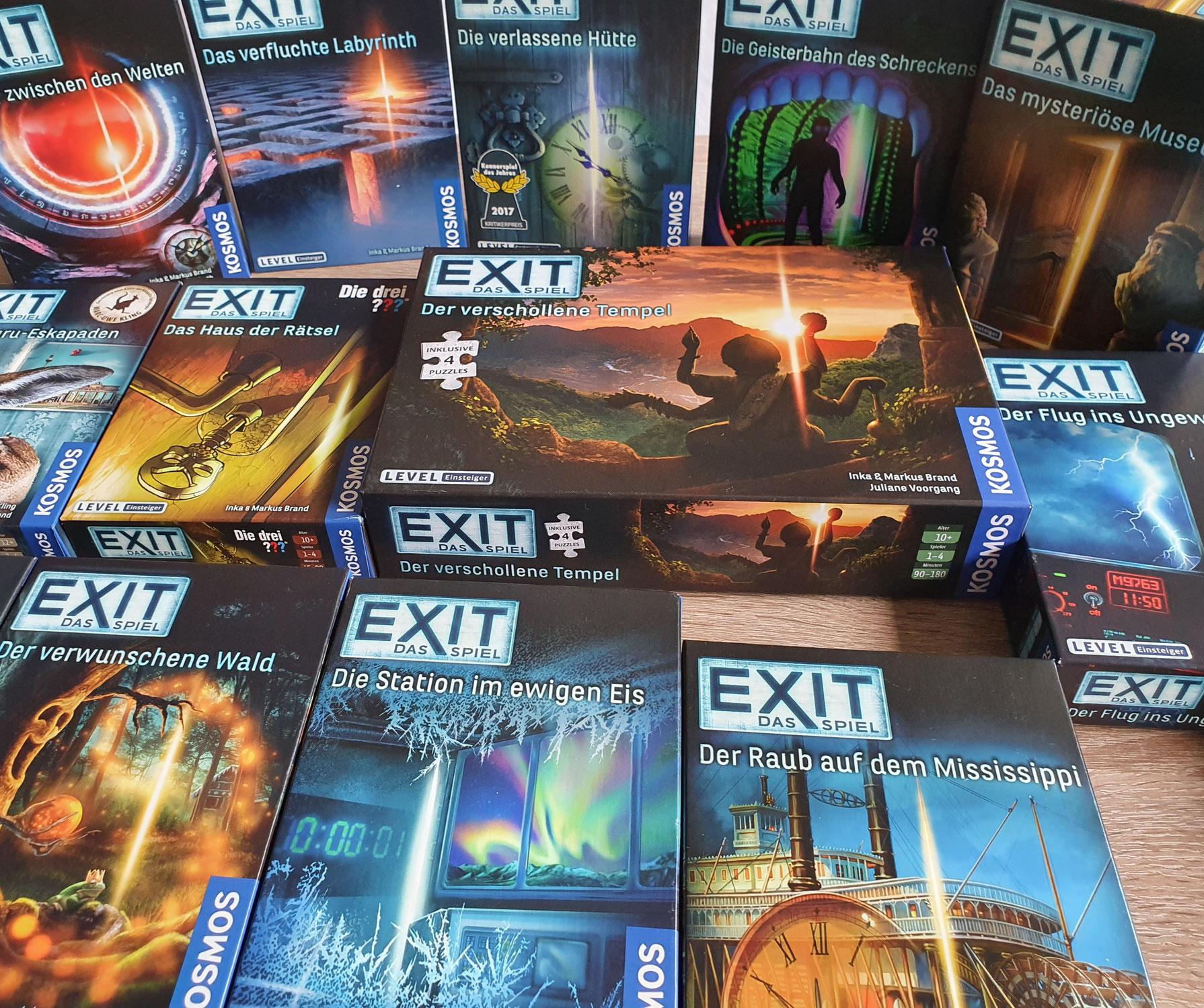 Der große KOSMOS Spieletest: Die EXIT Spiele