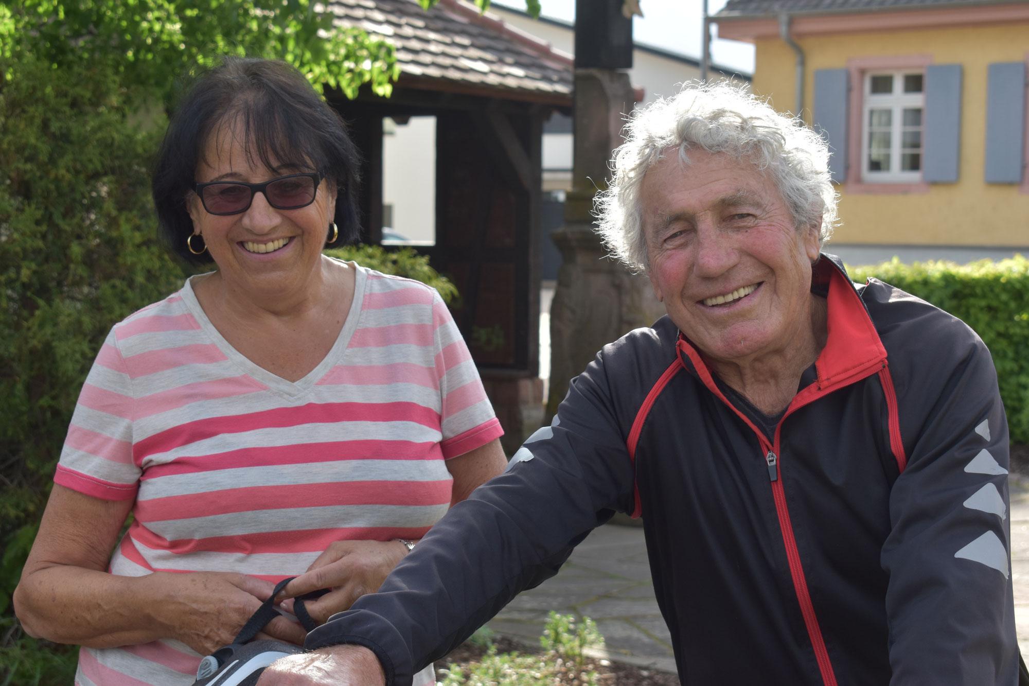 fast 85 und beim Marathon dabei: Maria & Oskar Kopf