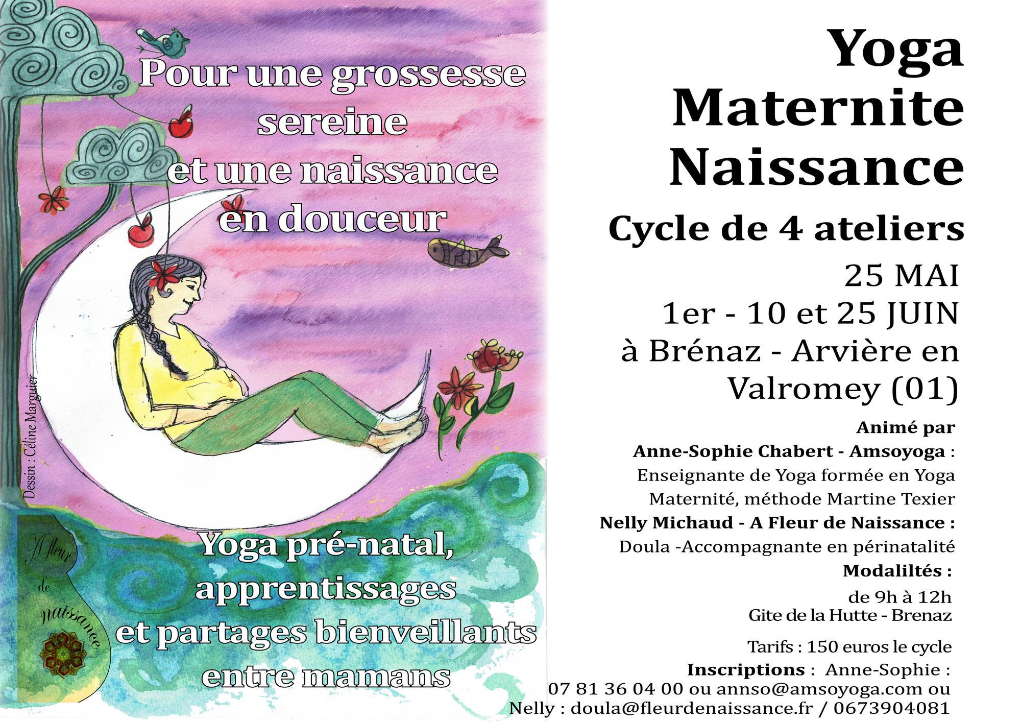 Cycle de Yoga Naissance Maternité mai et juin 21 à Arvière-en-Valromey