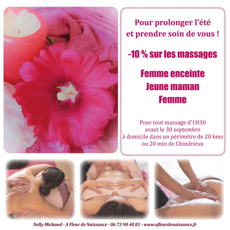 Promo de rentrée : 10 % de remise sur les massages