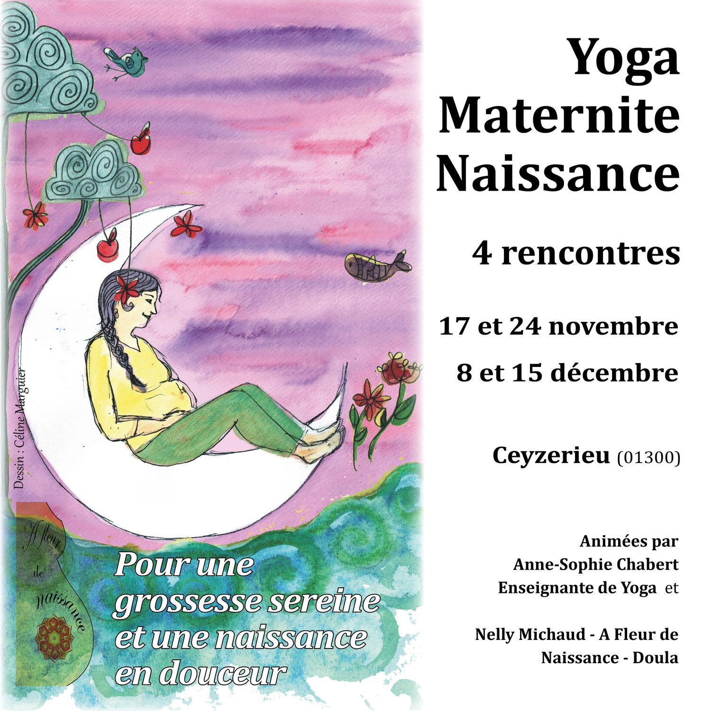 Cycle de Yoga Naissance Maternité novembre -décembre 21 à Ceyzerieu