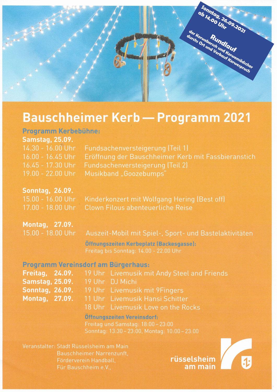 Bauschheim Kerb 2021 endlich wieder da