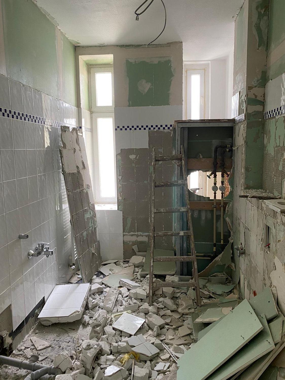 Start für die Renovierung einer kleinen Wohnung in Berlin-Pankow