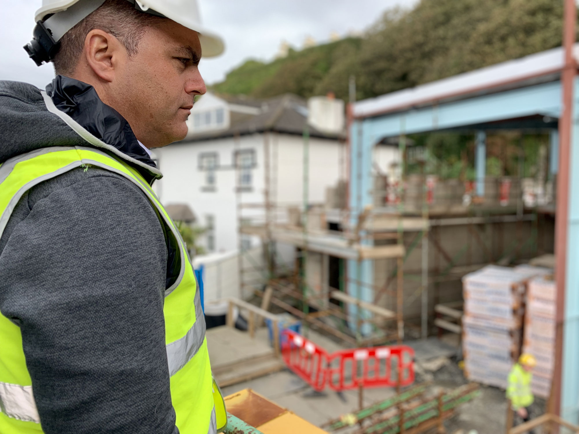 The construction of the new horse tram depot redevelopment in the Isle of Man designed by Modus Architects has been officially started