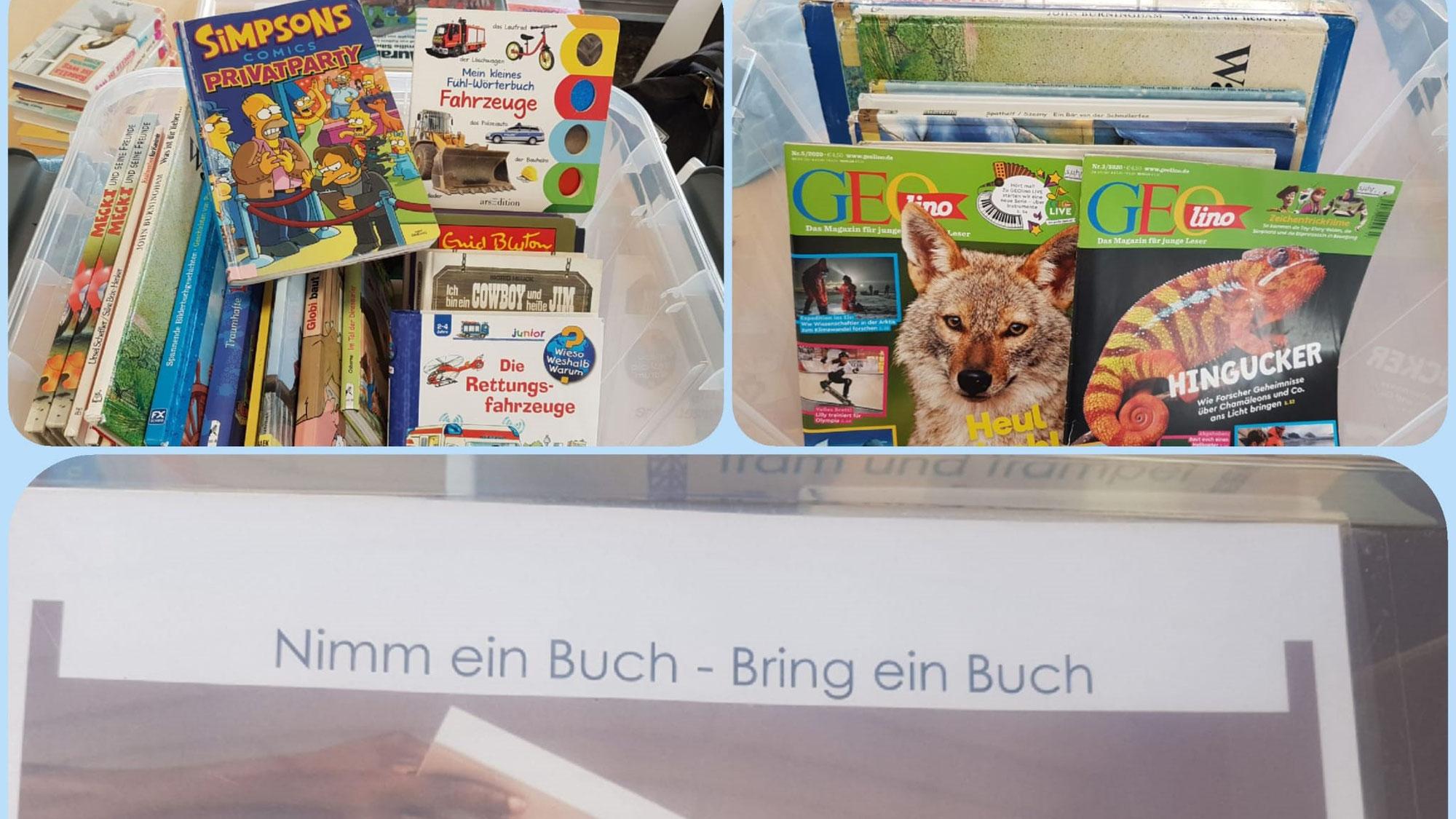 Neue Bücherkiste mit Kinderliteratur