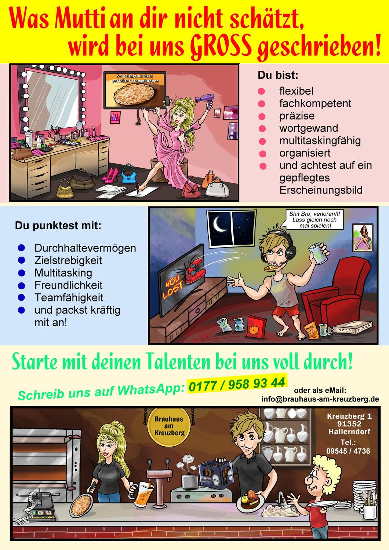 Comic, Werbecomic erstellen lassen, Azubis, Servicekräfte, Jobangebot, Jobsuche