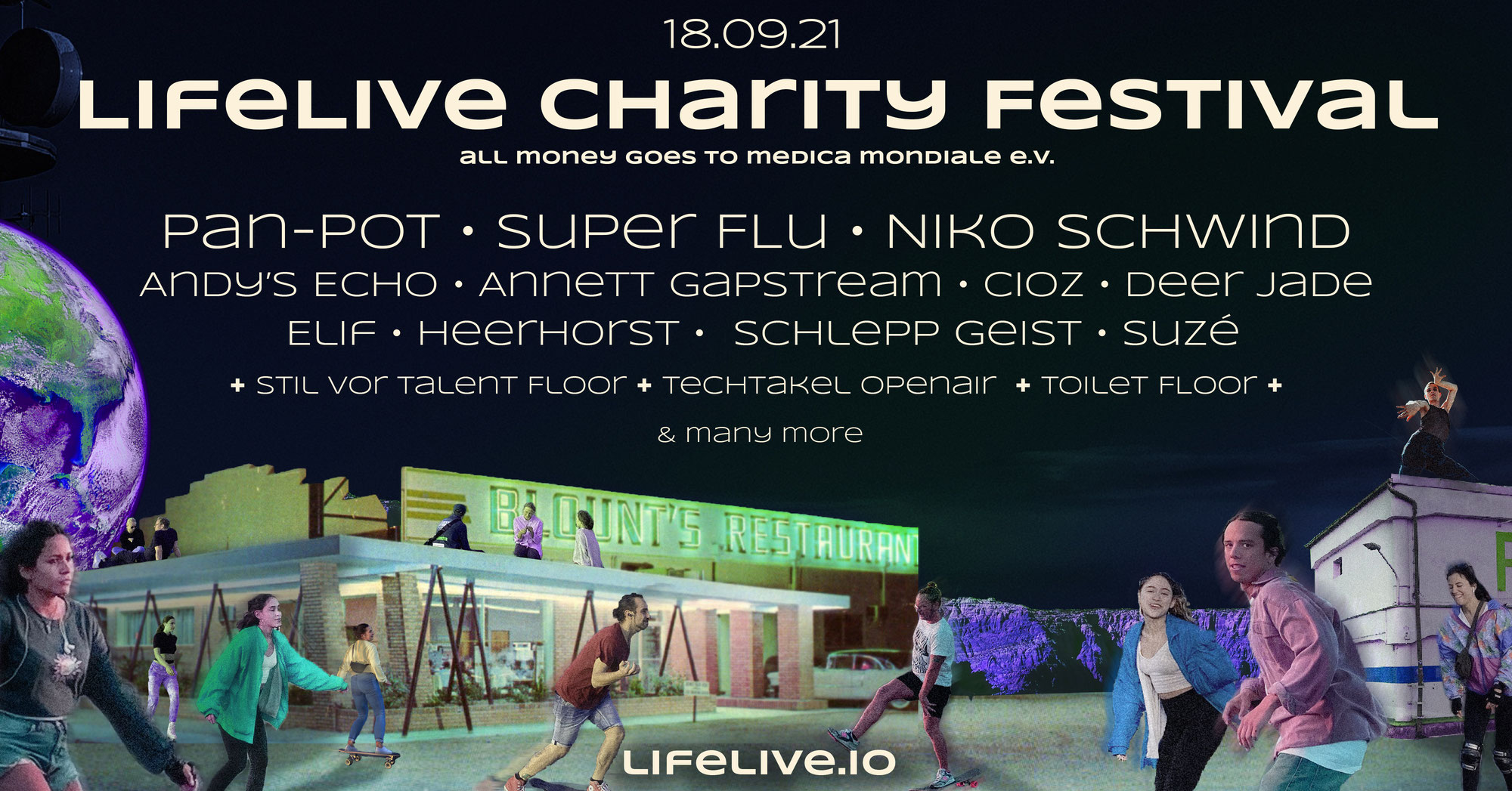 PUSH HARD supports LIFELIVE CHARITY FESTIVAL Sep 2021