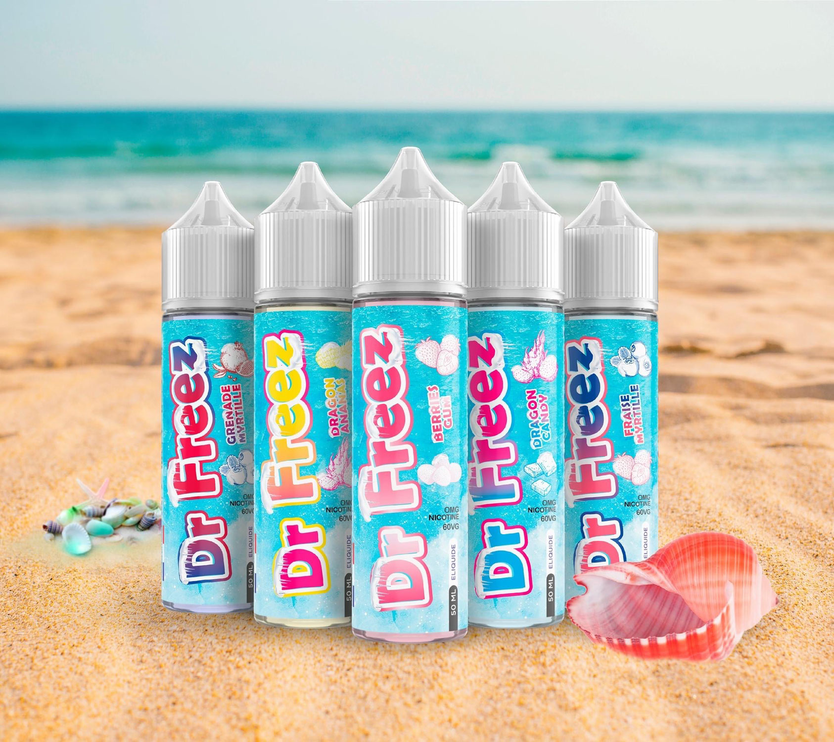 Découvrez la gamme de e-liquides Dr Freez, la plus givrée !