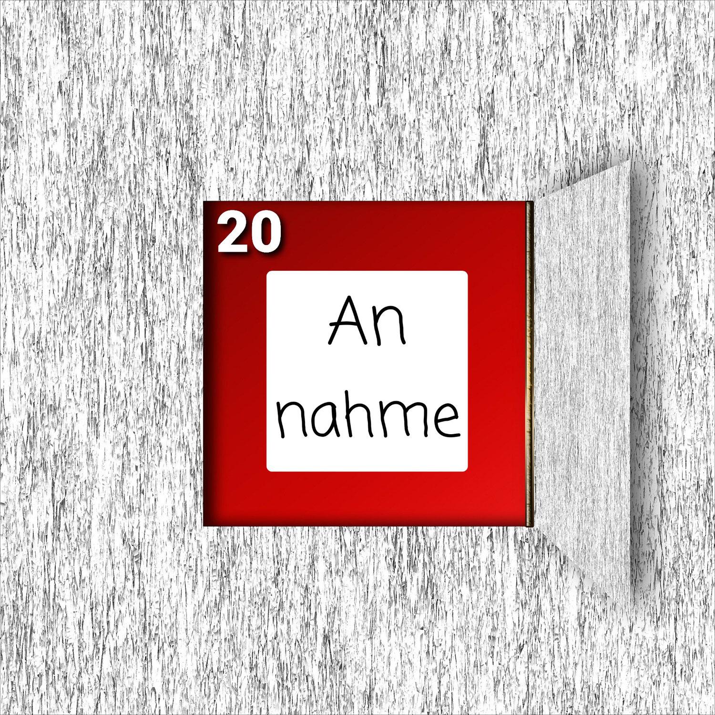 Türchen Nr. 20 ###Annahme###