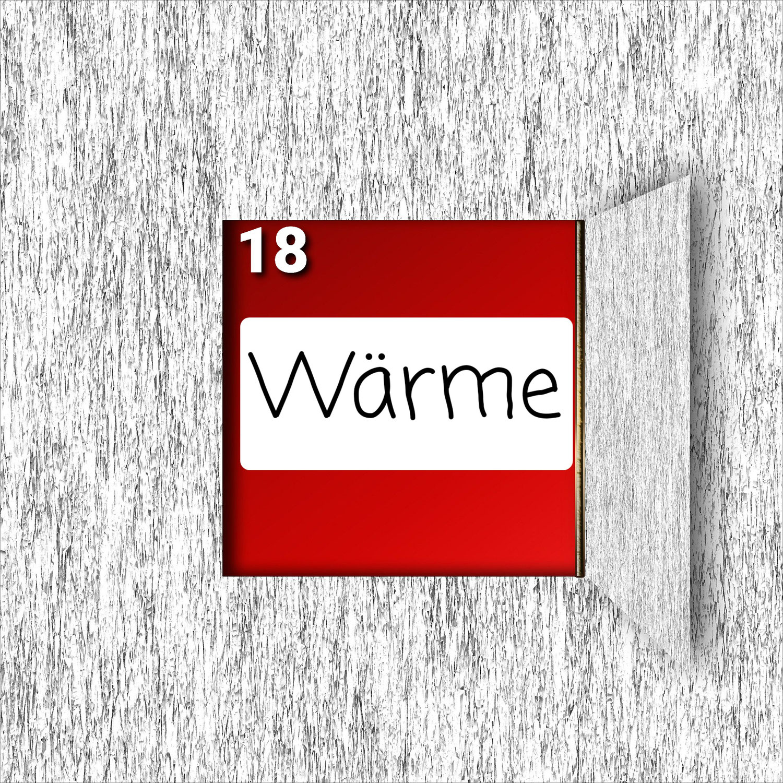 Türchen Nr. 18 ###Wärme###