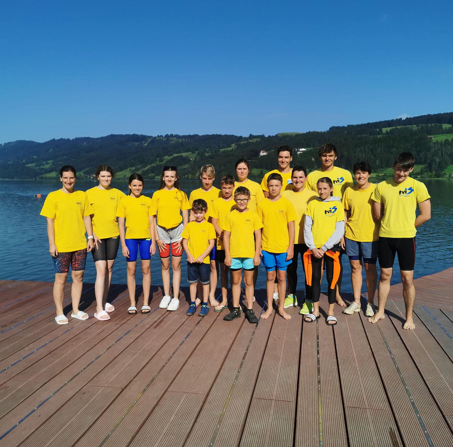 TVI-Schwimmer stellen tolles Team