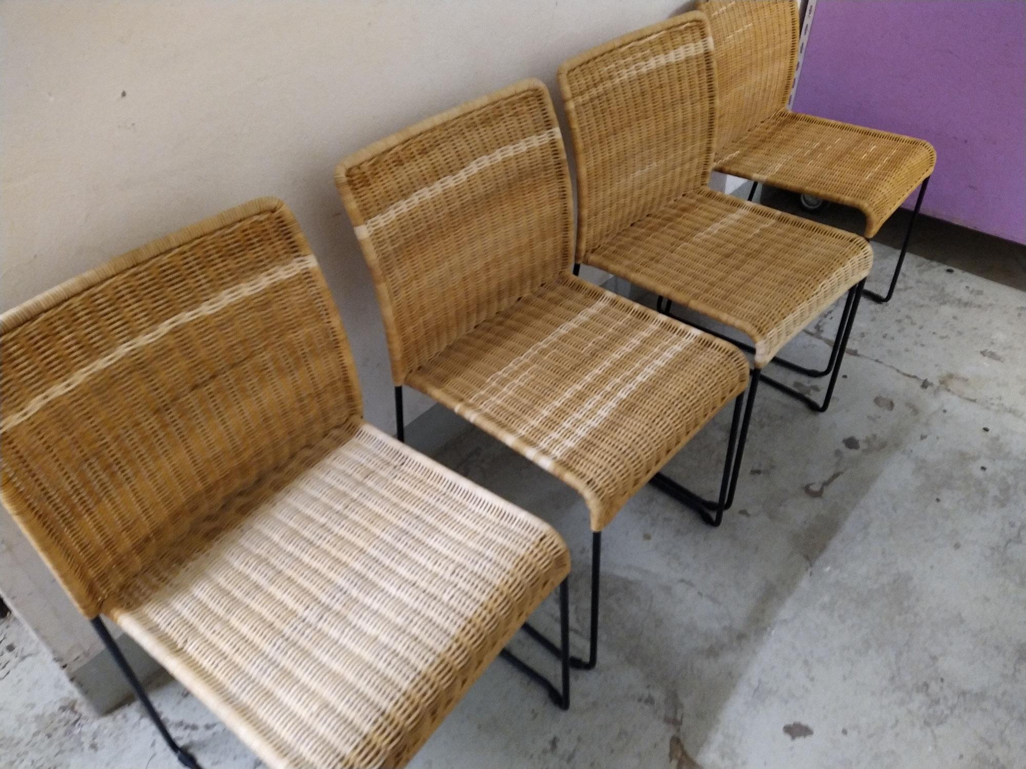 Stuhl mit Peddigrohr