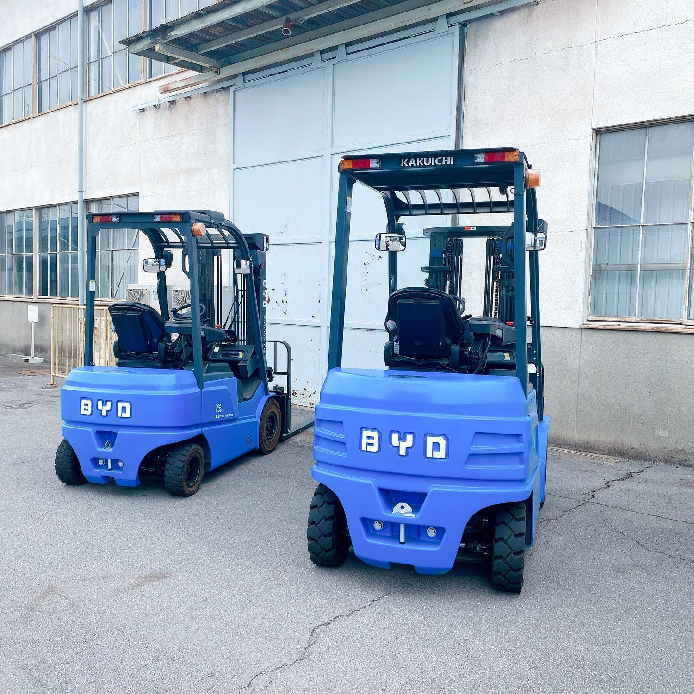 【カクイチKakuichi】BYD EVフォークリフトサブスクリプション BYD EV Forklift Subscription