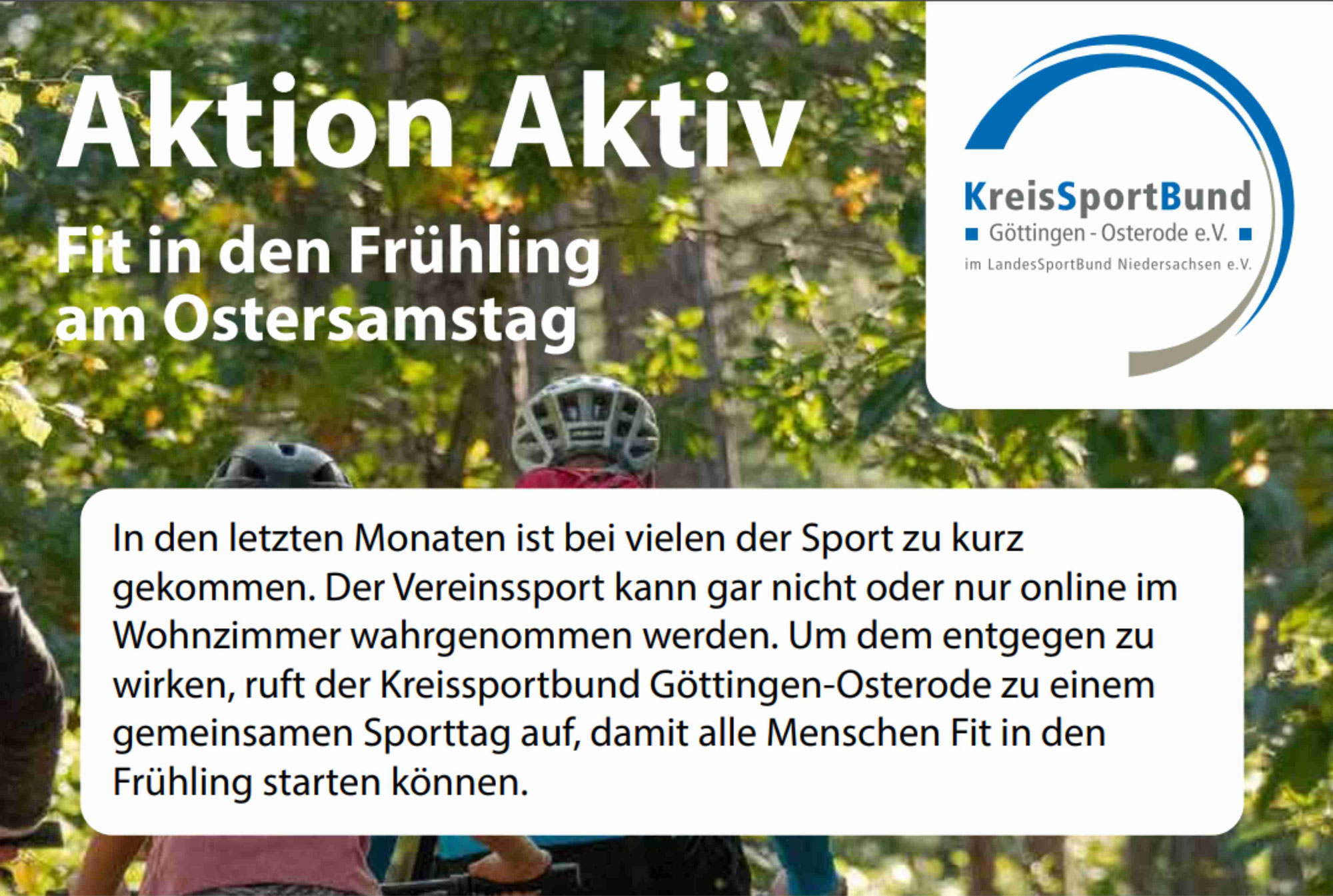 Aktion Aktiv - Fit in den Frühling am Ostersamstag