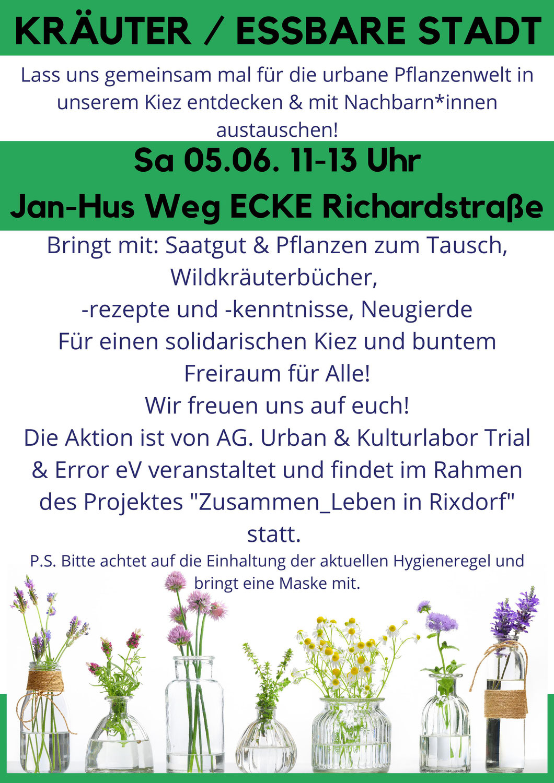Kräuter / Essbarer Stadt WORKSHOP & PFLANZENTAUSCH