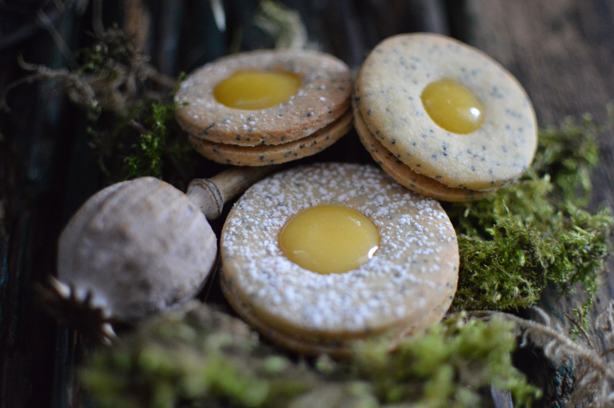 Mohn-Zitrone Kekse