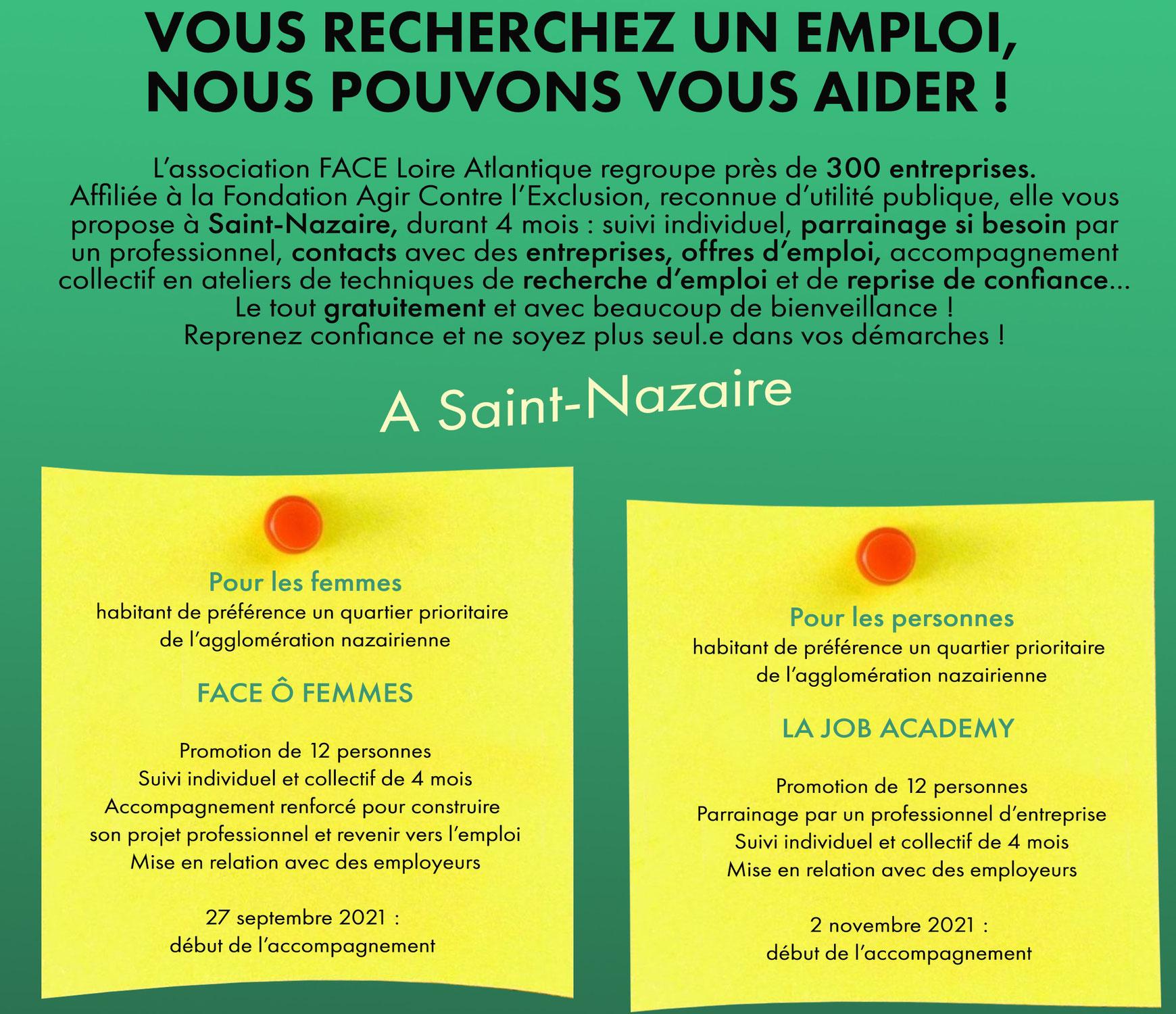 Vous êtes en recherche d'emploi et habitez l'agglo nazairienne, nous pouvons vous aider !