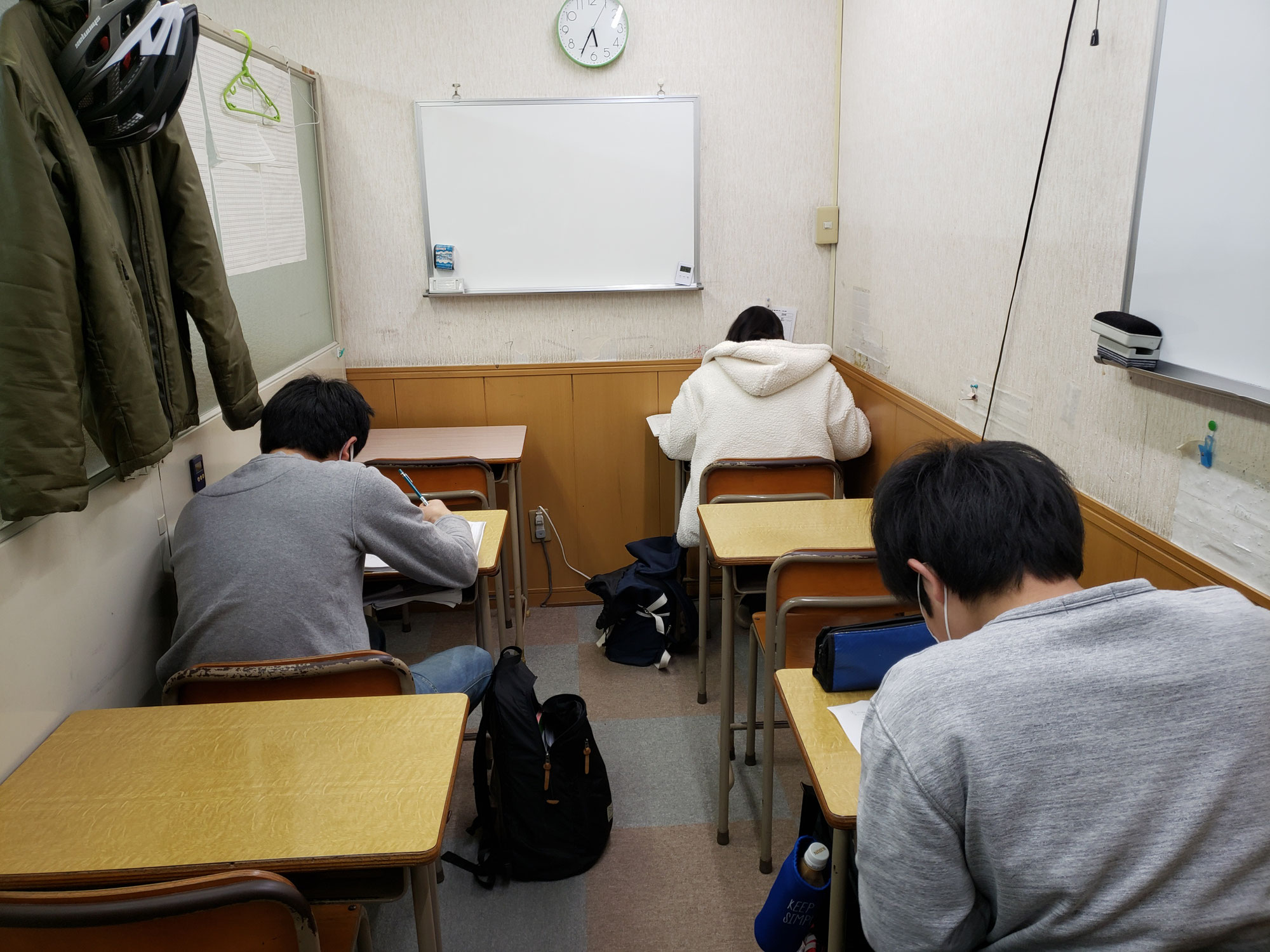 都立高校入試まであと2日、悔いの残らないようにやるだけですね