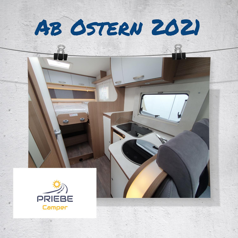 Teilintegriertes Wohnmobil ab Ostern 2021 verfügbar