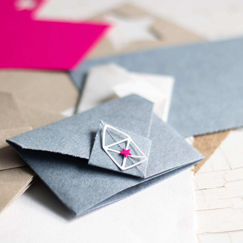 Origami-Umschlag mit coolem Verschluss