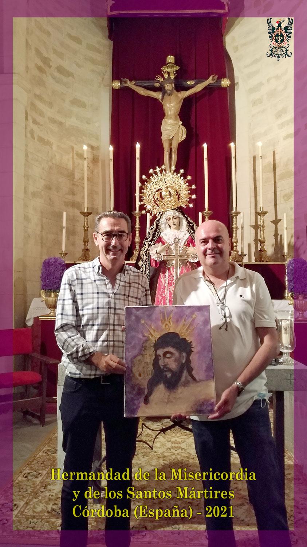 Donación de un cuadro del Santísimo Cristo