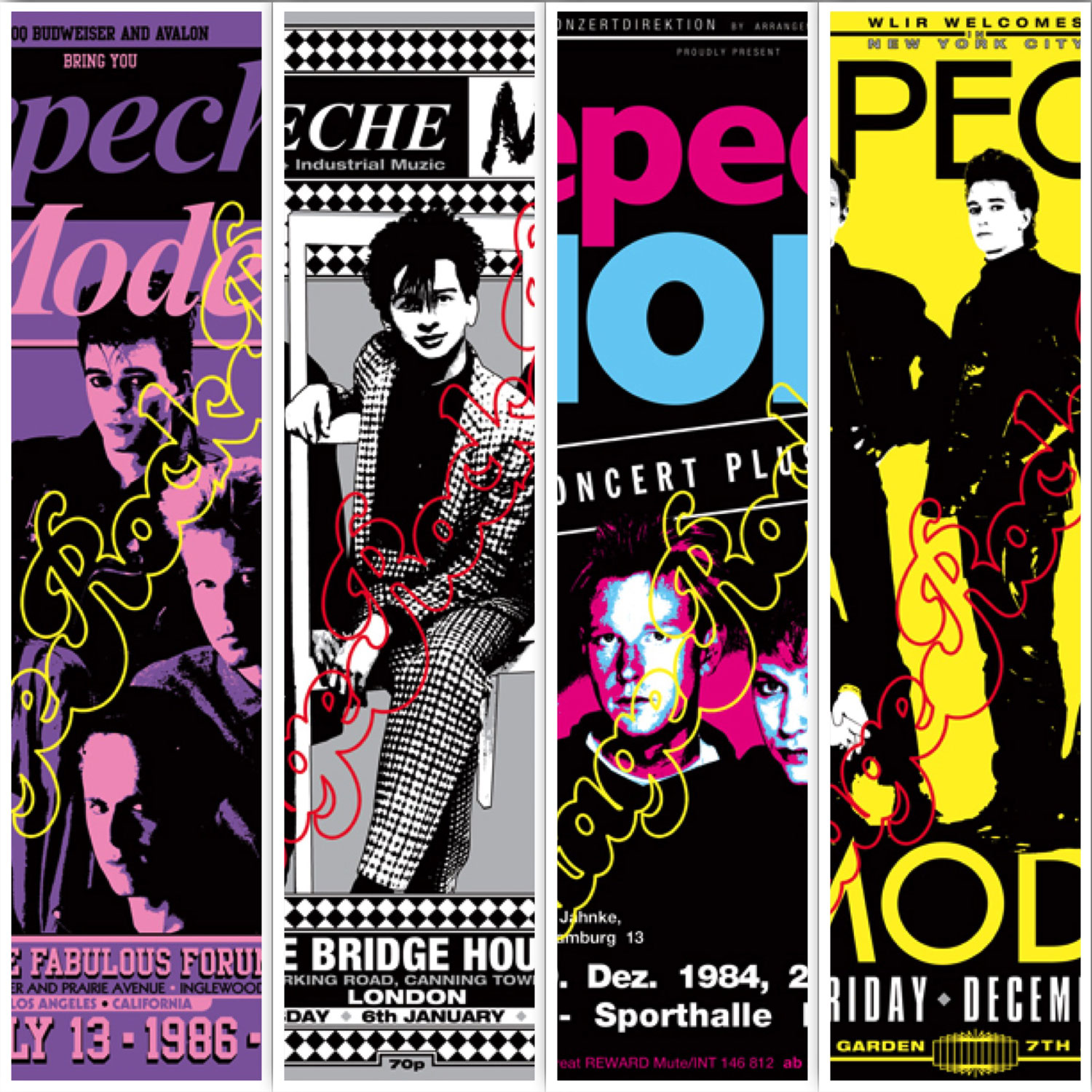 this week:  4 new posters about Depeche Mode