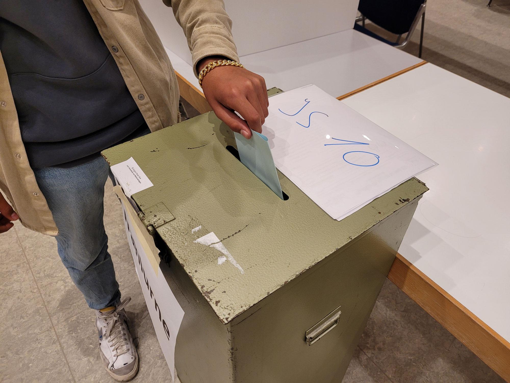 Demokratie erleben - Juniorwahlen an der Gesamtschule Freudenberg
