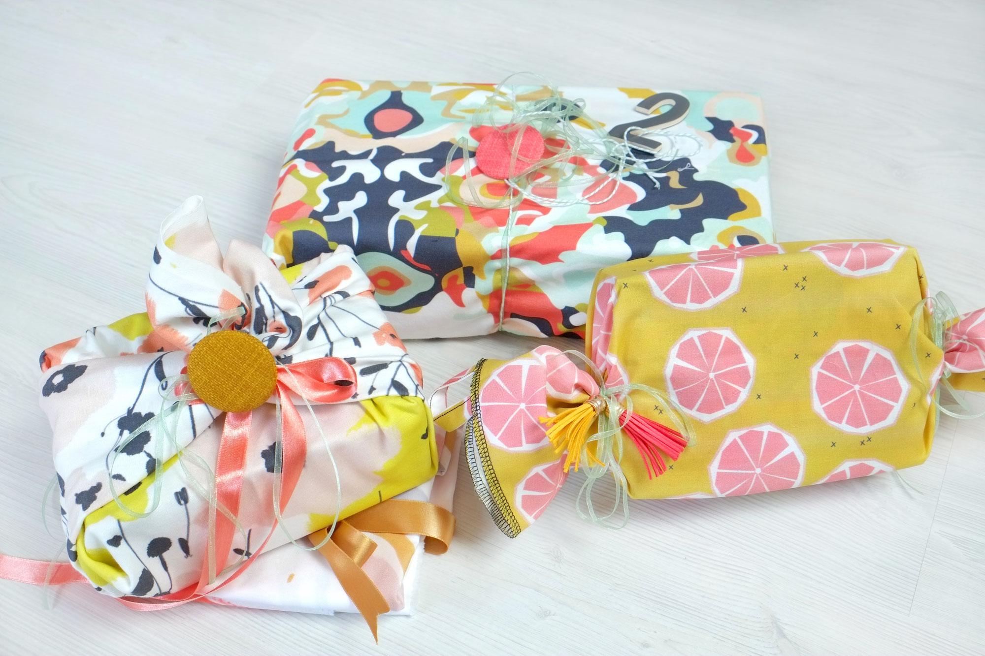 Furoshiki - Einpacken mit Stoff